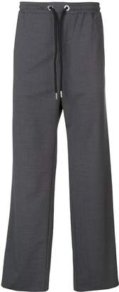 Les Hommes wide leg stripe detail trousers