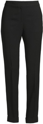 Lafayette 148 New York Clinton Finesse Crepe Cuffed Pants