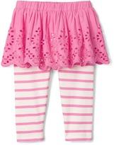 Gap Eyelet skirt legging duo