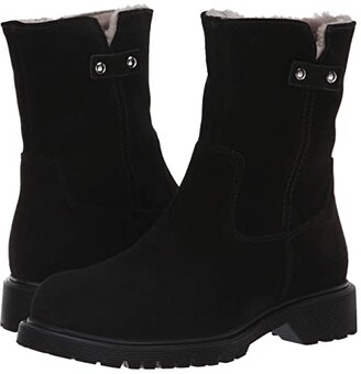 La Canadienne Hunter (Black Suede/Shearling Lined) Women's Boots