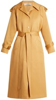 Nina Ricci Peak-lapel tie-waist cotton-blend trench coat