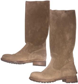Jimmy Choo Beige Suede Boots