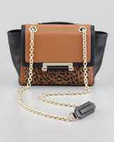Diane von Furstenberg Leopard-Print Mixed-Media Mini Crossbody Bag (Blogger Pick!)