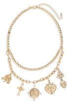 BP Women's Cross & Lock Charm Necklace