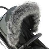 For-Your-Little-One Fur Hood Trim Pram Compatible on Teutonia Black