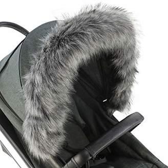Hauck For-Your-Little-One Fur Hood Trim Pram Compatible on Hauck, Dark Grey