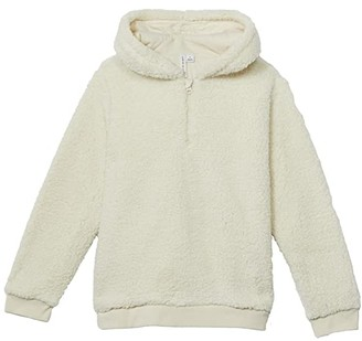 Janie and Jack Hooded Sherpa Pullover (Toddler/Little Kids/Big Kids) (Ivory) Boy's Clothing