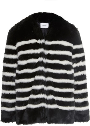 Frame Jerry Striped Faux Fur Coat