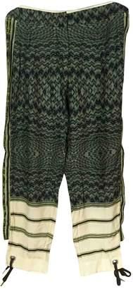 H&M Studio Studio Green Silk Trousers for Women