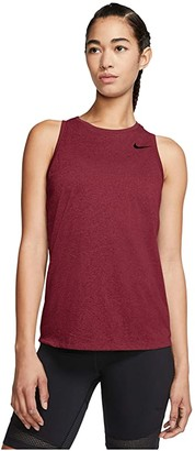 Nike Dry Tank Legend Essential Swoosh (Black/White) Women's Clothing