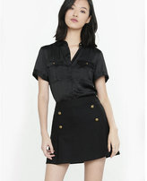 Express military rolled sleeve blouse