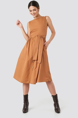 Trendyol Front Button Binding Detailed Midi Dress