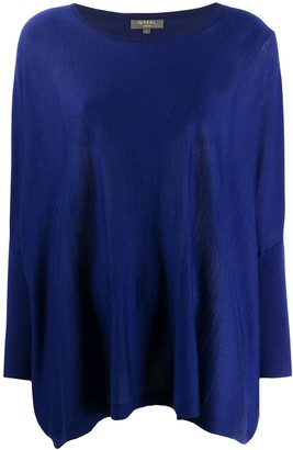 N.Peal Round Neck Cashmere Poncho