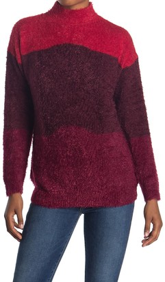 Rxb Color Block Eyelash Sweater