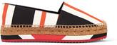 Dolce & Gabbana Striped canvas espadrilles