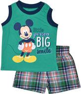 Asstd National Brand 2-pc. Mickey Mouse Short Set Baby Boys