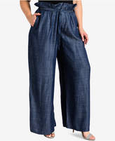standards and practices Trendy Plus Size Wide-Leg Trousers