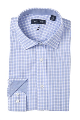 Nautica Classic Fit Checkered Dress Shirt
