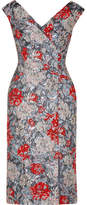 Erdem Jyoti Floral-jacquard Midi Dress - Gray