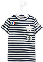 Moncler striped T-shirt - kids - Cotton/Polyurethane/Spandex/Elastane - 4 yrs