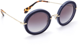 Miu Miu Round Satin Sunglasses