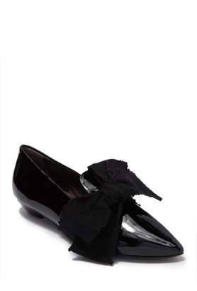 Attilio Giusti Leombruni Leather Pointed Toe Bow Loafer