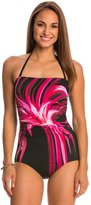 Jantzen Tropical Bliss Party Girl Bandeau One Piece Swimsuit 7537894