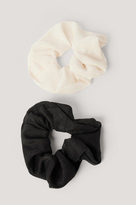 NA-KD Basic Woven Scrunchies (2-pack)