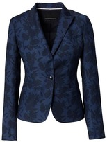 Banana Republic Classic-Fit Lightweight Wool Floral Blazer