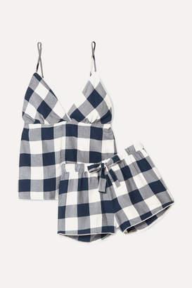 Rails Checked Flannel Pajama Set - Midnight blue