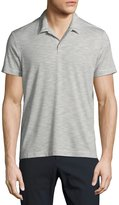 Theory Willem Anemone Soft Stripe Polo Shirt, White Multi