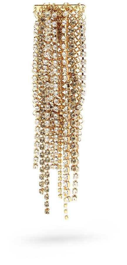 Lanvin Crystal-embellished fringed brooch