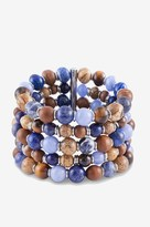 French Connection Multi Row Beaded stretch Bracelet