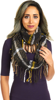 David & Young Women's Plaid Woven Scarf With Fringe