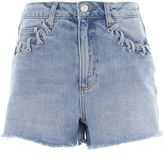 Topshop MOTO Whip Stitch Mom Shorts