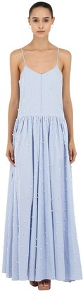 Cc By Camilla Cappelli Embellished Cotton Maxi Dress