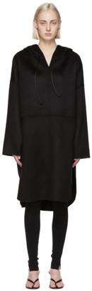 Totême Black Wool Cashmere Pullover Coat