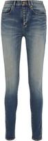 Saint Laurent Mid-rise Skinny Jeans - Mid denim