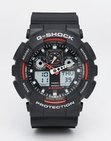 G Shock G-shock Analogue Watch Ga-100-1a4er - Black