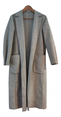 MANGO Grey Wool Coats