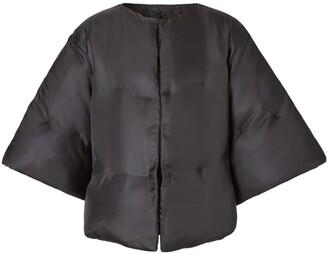 Burberry silk twill puffer cape