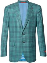 Isaia plaid blazer - men - Silk/Linen/Flax/Cashmere/Wool - 50