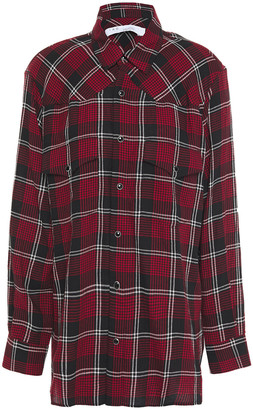 IRO Robby Checked Cotton And Modal-blend Flannel Shirt