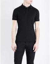 Armani Jeans Interlock Cotton-jersey Polo Shirt