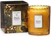 Voluspa Japonica Baltic Amber Embossed Glass Scalloped Edge Candle