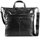 Life Leather Tote, Black