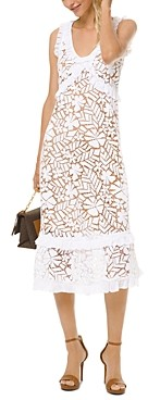 MICHAEL Michael Kors Floral Lace Midi Dress