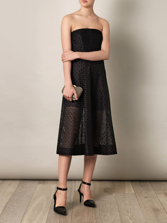 Stella McCartney Mathilde paper-work embroidered dress