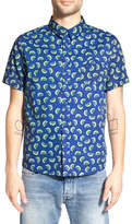 NATIVE YOUTH Trim Fit Kiwi Print Woven Shirt