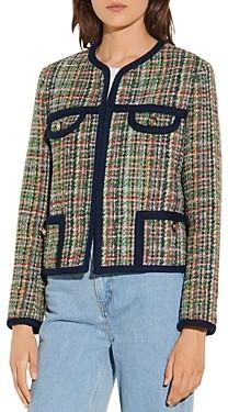 Sandro Jolaine Multicolor Tweed Jacket